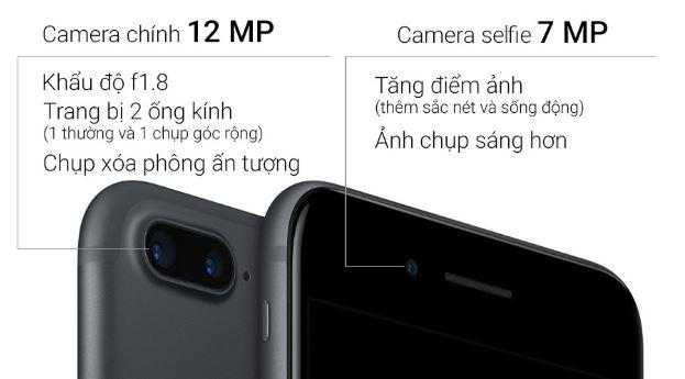 iPhone 7 Plus trang bị cụm camera kép xóa phông chuyên nghiệp