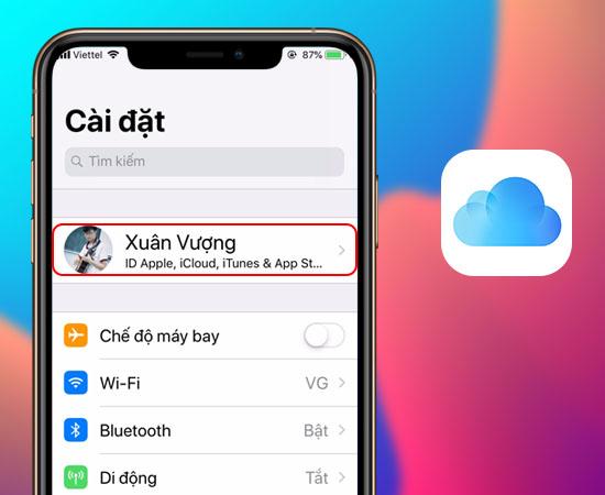 Kiểm tra iCloud trên iPhone