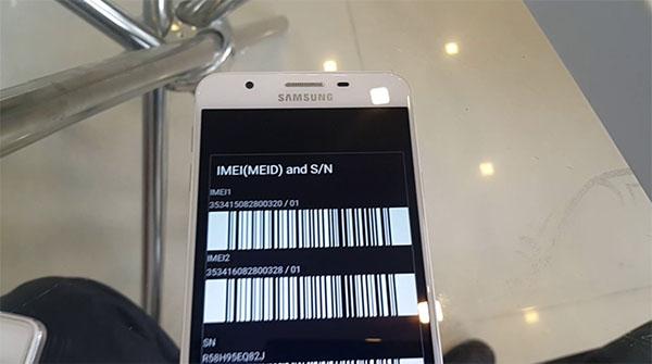 Mỗi điện thoại Samsung đều được cung cấp một mã số IMEI duy nhất