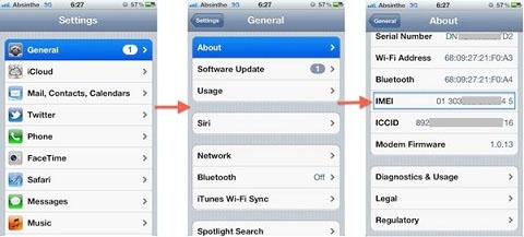 Hướng dẫn kiểm tra iMei iPhone