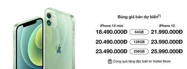 Đặt gạch iPhone 12 Mini và iPhone 12