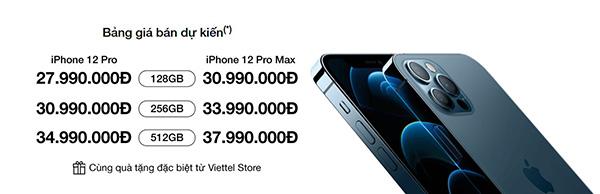 Đặt gạch iPhone 12 Pro và 12 Pro Max