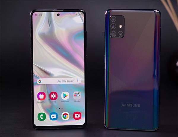 Galaxy A52 sở hữu màn hình 6.5 inch, sử dụng tấm nền Super AMOLED