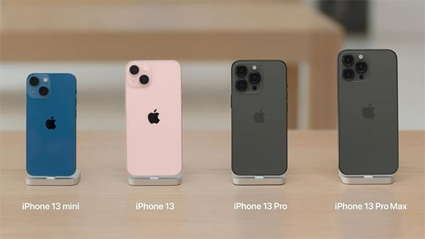 Kích thước iPhone 13 series